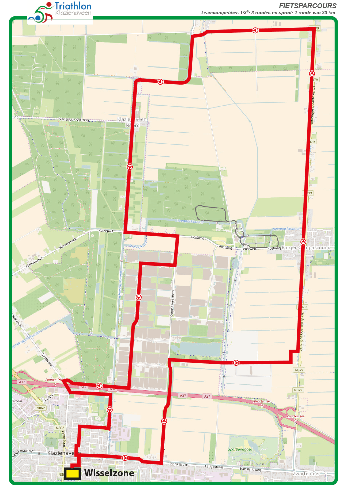 Triathlon Klazienaveen Fietsparcours