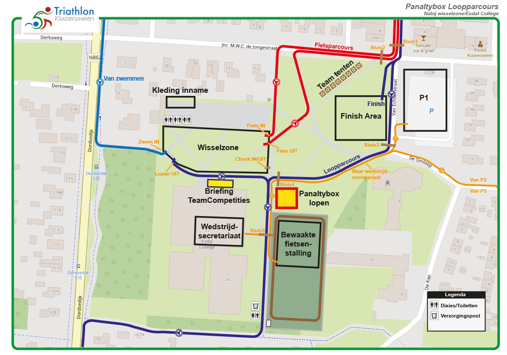 Triathlon Klazienaveen Panaltybox Loopparcours