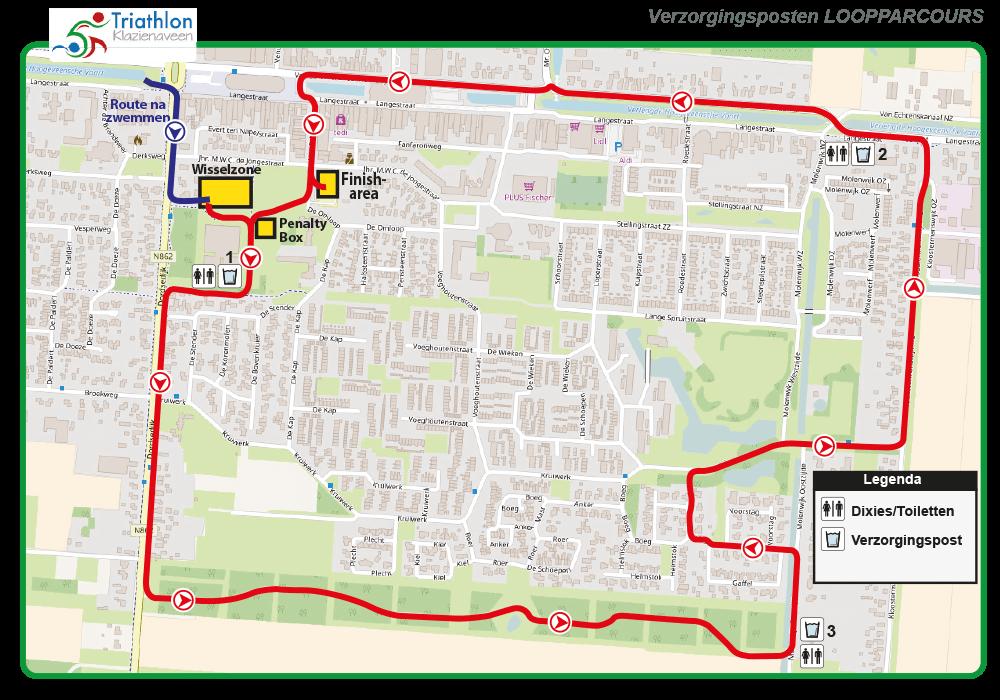 Triathlon Klazienaveen Verzorgingsposten Loopparcours